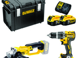 Cordless Drill & Grinder with Batteries Kit